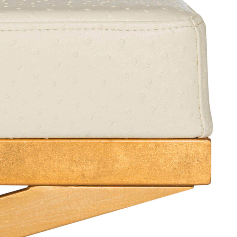 Дизайнерский белый Пуф Crown Gold Ottoman