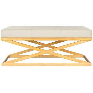 Пуф Crown Gold Ottoman, белый
