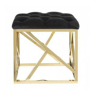 Пуф Gold geometric base, черный