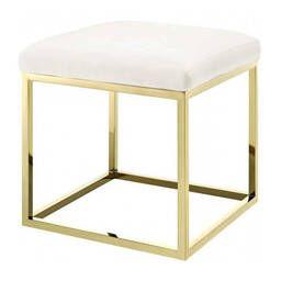 Пуф Gold square, белый