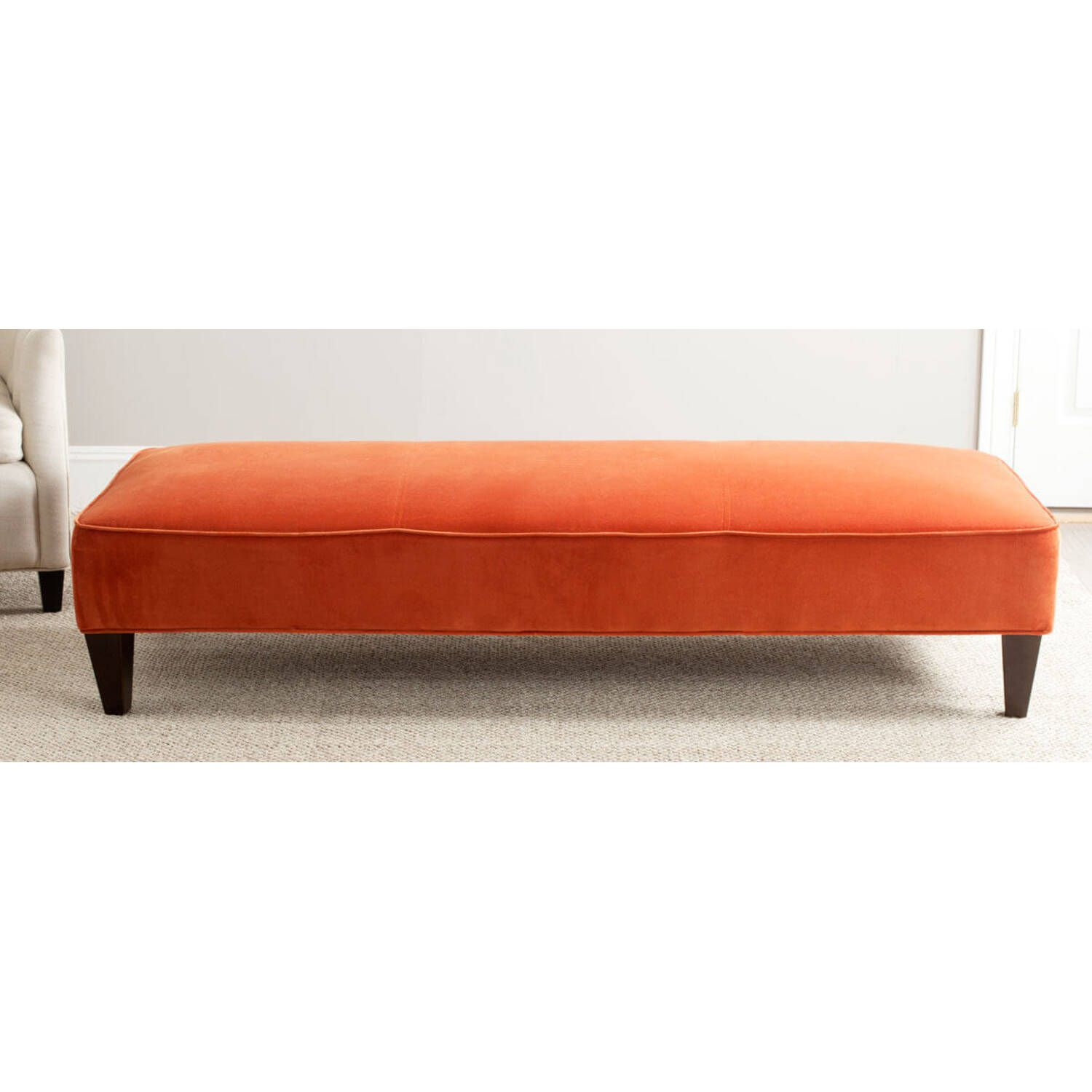 Банкетка Harlow Lounging Bench, оранжевая