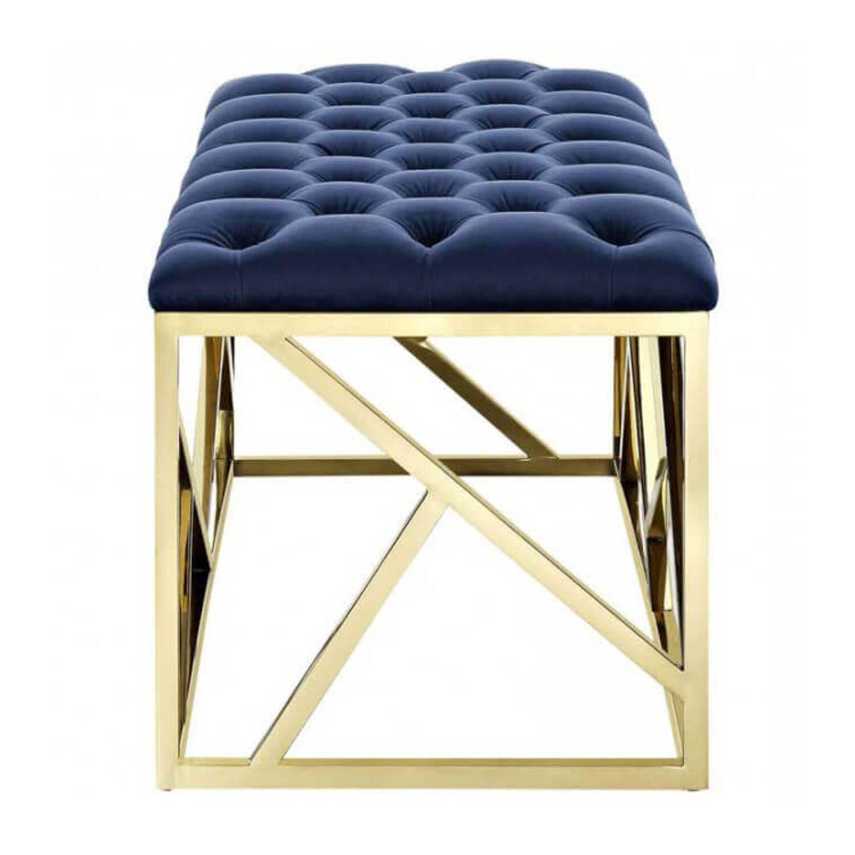 Дизайнерская синяя банкетка Juliet