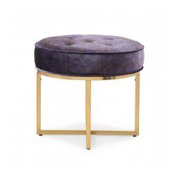 Дизайнерский фиолетовый пуф Omari
