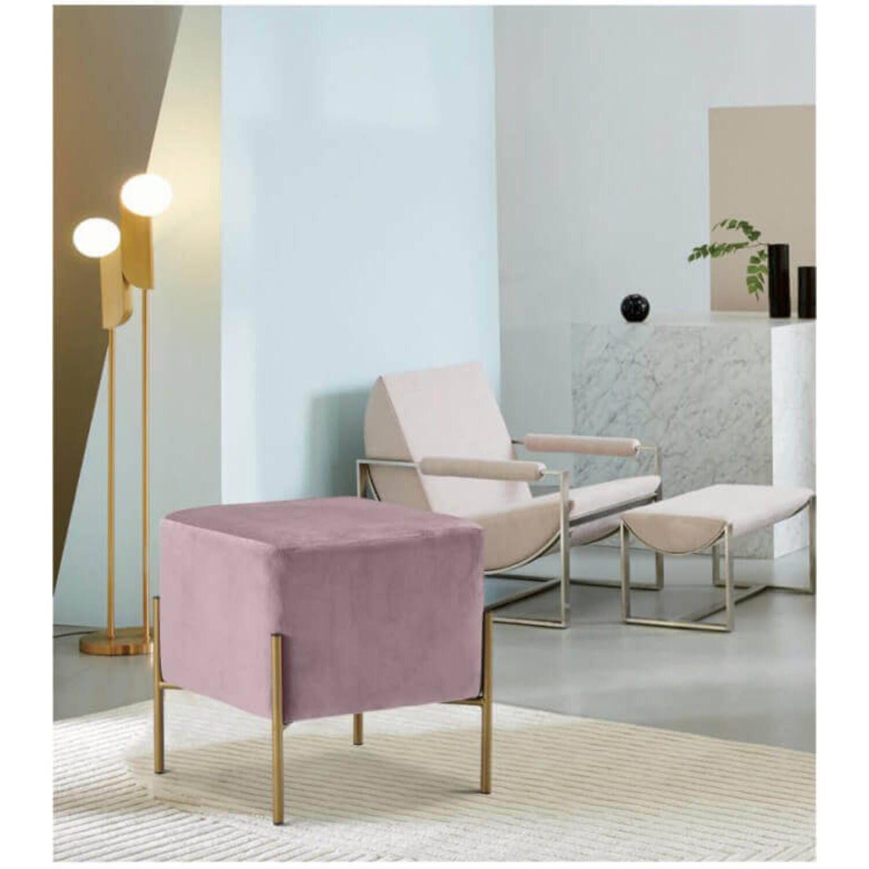 Пуф Square modern розовый
