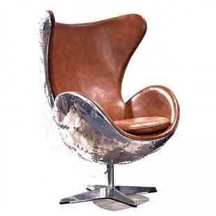 Кресло Egg Aviator, темно-коричневое