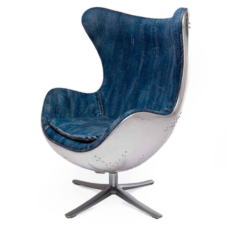 Кресло Egg Aviator, синее