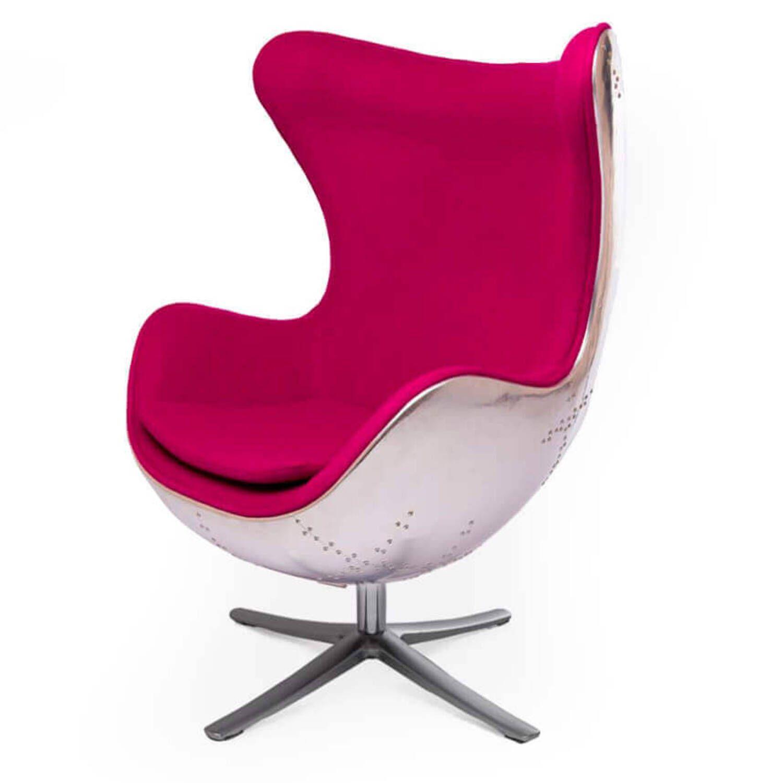 Кресло Egg Aviator, розовое