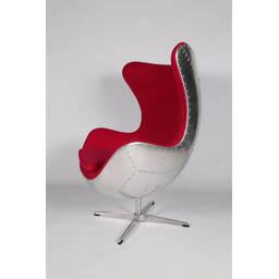 Кресло Egg Aviator, красное