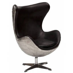 Кресло Egg Aviator, черное