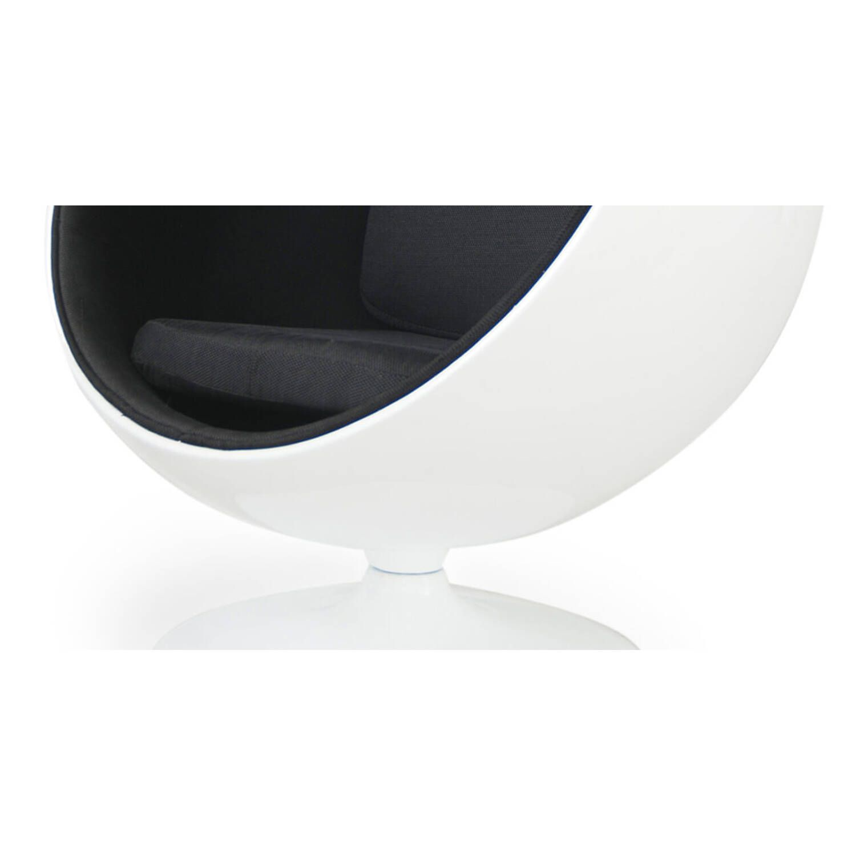 Кресло Шар Ball Chair бело-черное