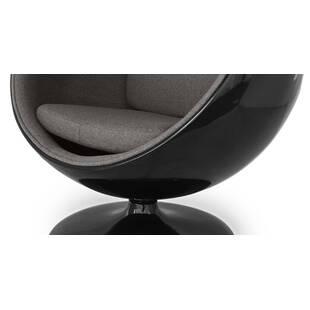 Кресло-шар Ball Chair черно-серое