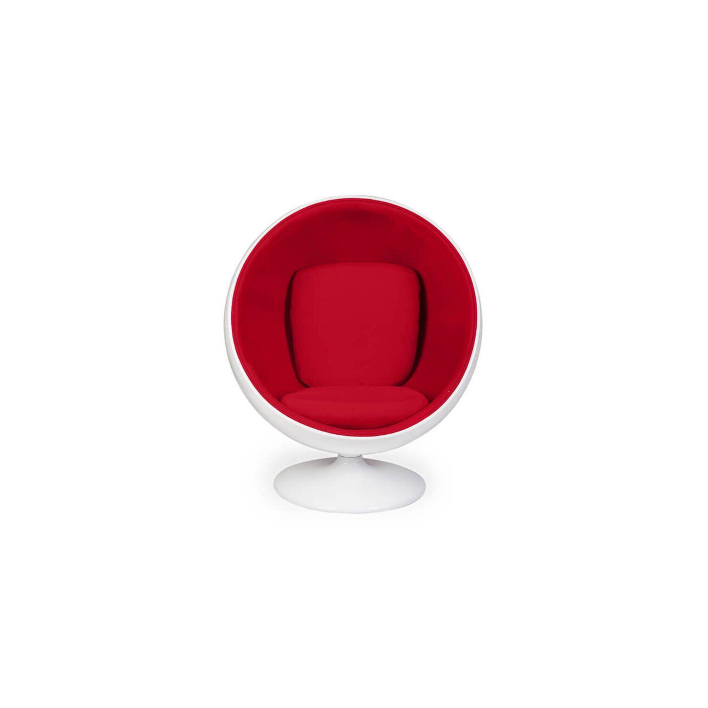 Кресло-шар Ball Chair бело-красное