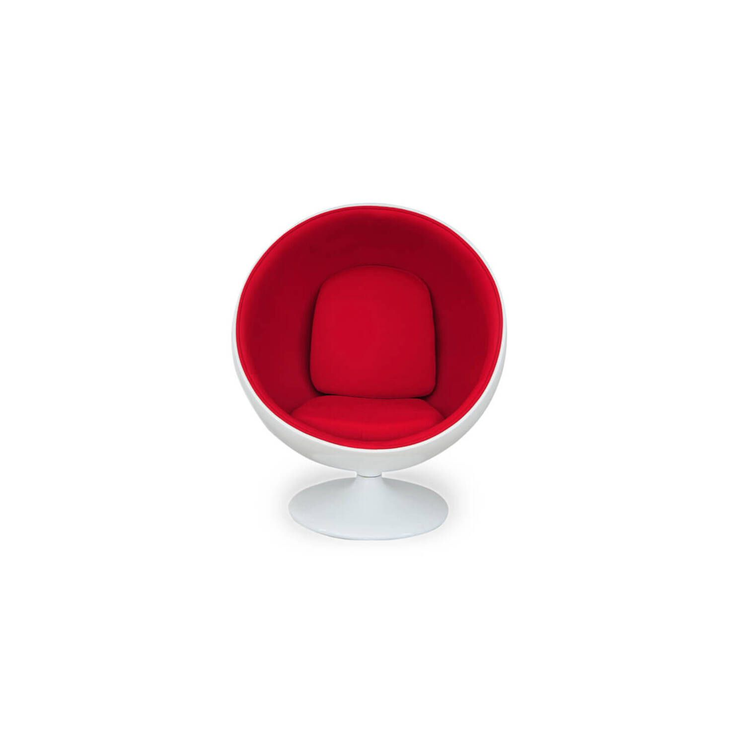 Кресло-шар Ball Chair бело-красное