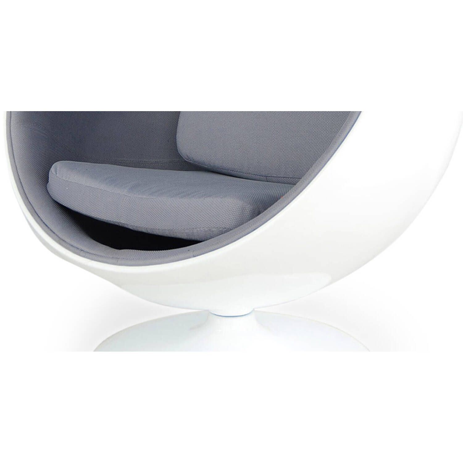 Кресло Шар Ball Chair бело-серое