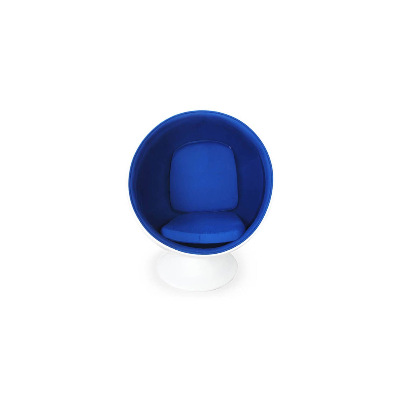 Кресло Шар Ball Chair бело-синее