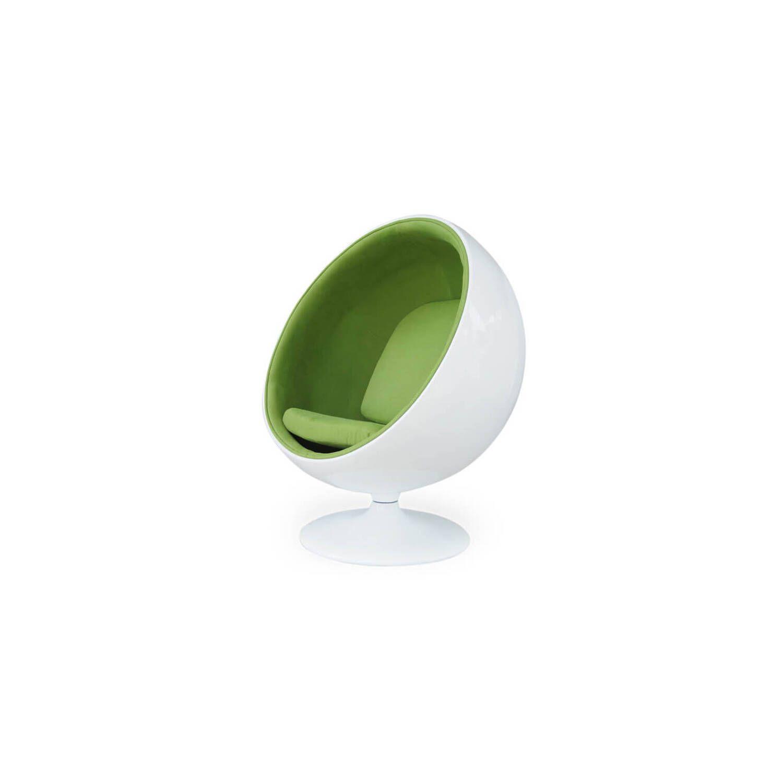 Кресло Шар Ball Chair бело-зеленое