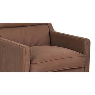 Кресло Borge, коричневое, экокожа
