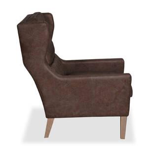 Кресло Borge, коричневое, натуральная кожа