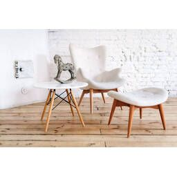 Белое кресло для отдыха Contour