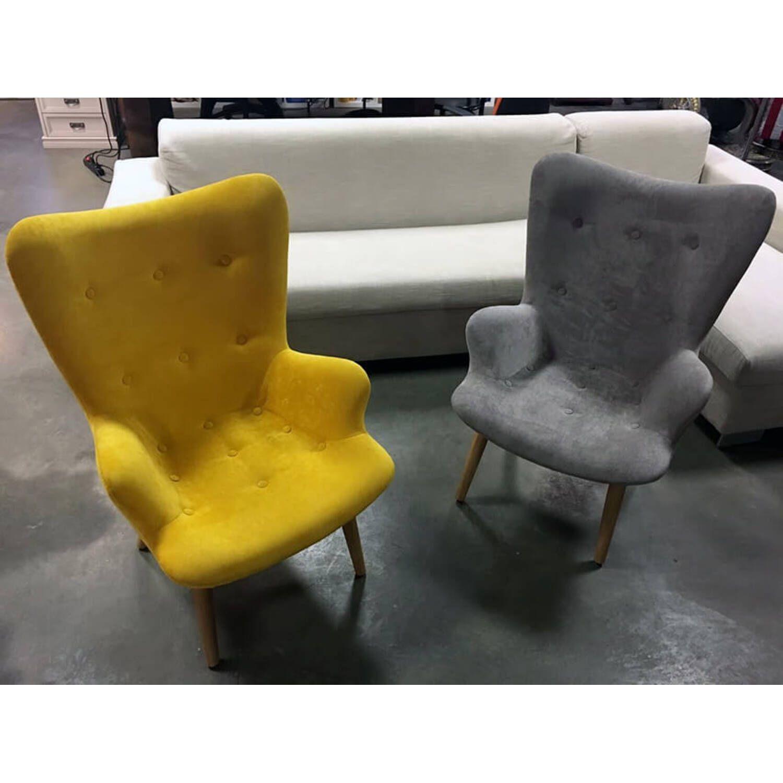 Желтое кресло для отдыха Contour