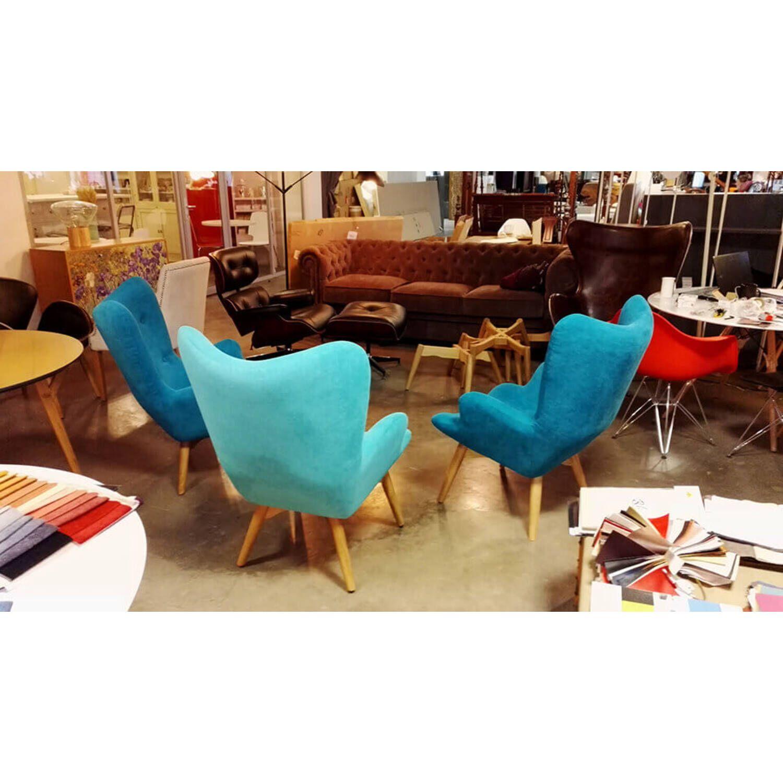Голубое кресло для отдыха Contour