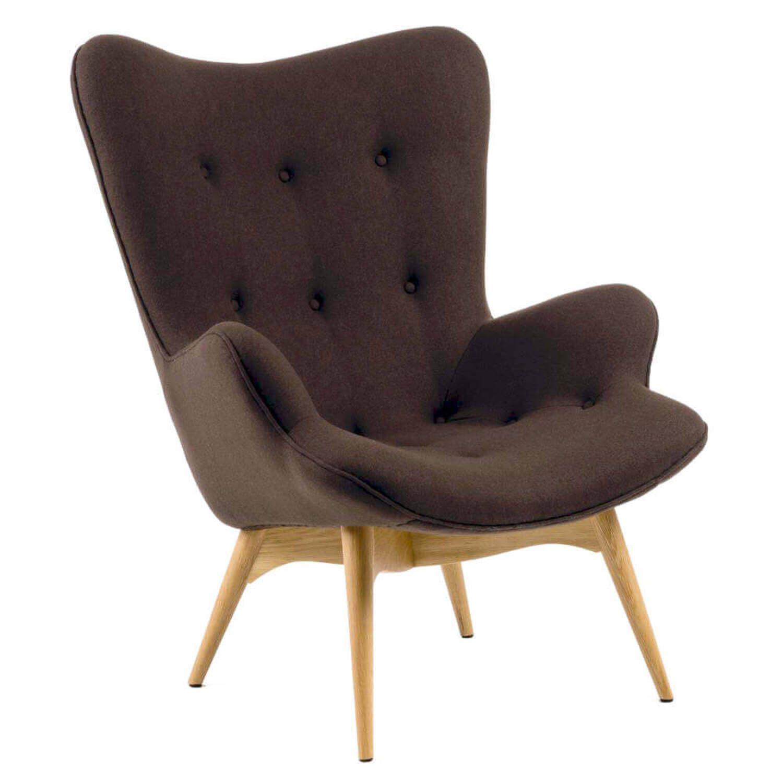 Коричневое кресло для отдыха Contour