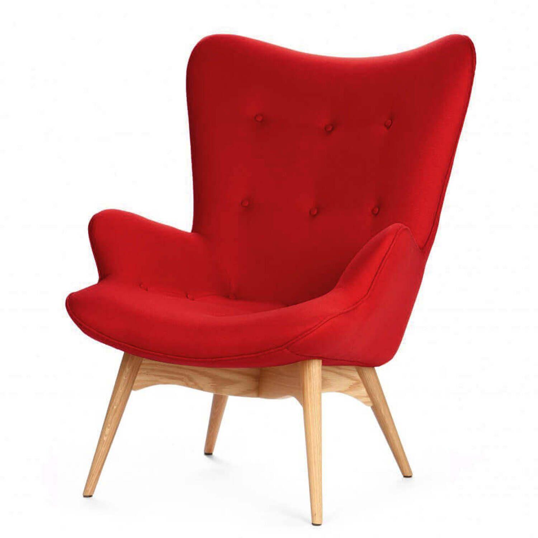 Красное кресло для отдыха Contour