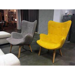 Серое кресло для отдыха Contour