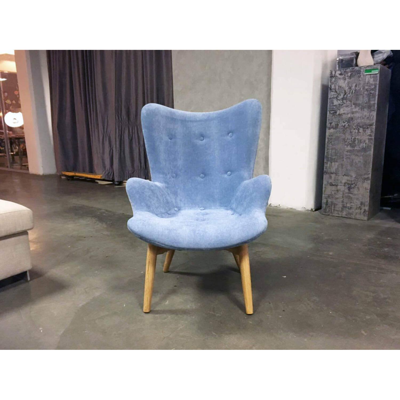 Синее кресло для отдыха Contour