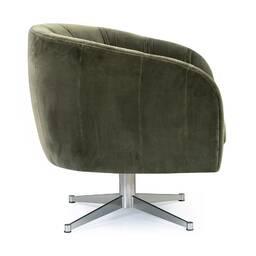 Вращающееся кресло Crescent, зеленое