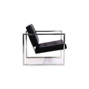 Кресло Cube черное кожаное