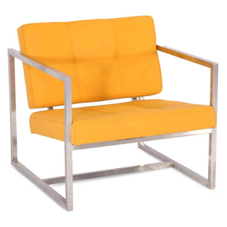 Желтое кресло Cube, современный стиль Модерн & Лофт
