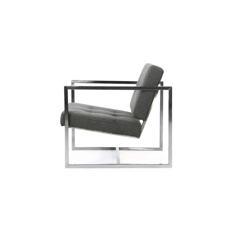 Кресло Cube серое