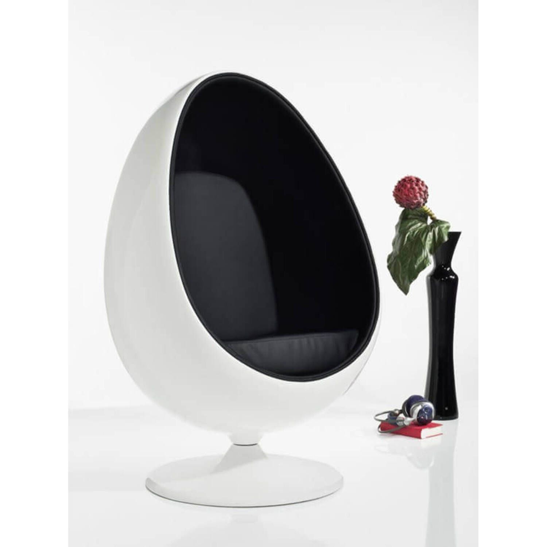 Eero Aarnio Egg Chair бело-черное купить