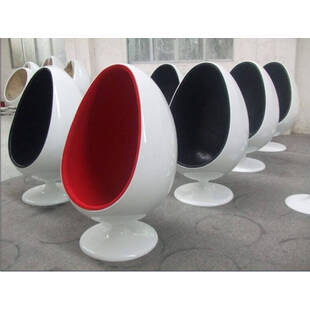 Eero Aarnio Egg Chair бело-черное