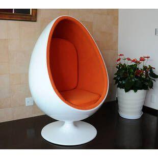 Eero Aarnio Egg Chair бело-оранжевое