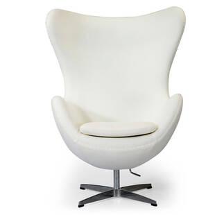 Белое кресло Egg