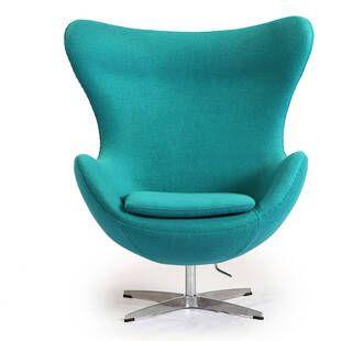 Бирюзовое кресло Egg