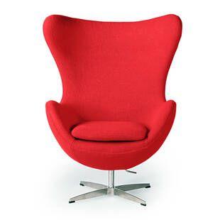 Красное кресло Egg