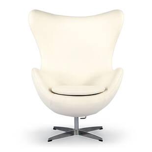Кремовое кресло Egg