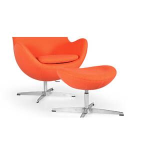 Оранжевое кресло Egg