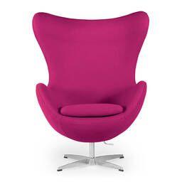 Розовое кресло Egg