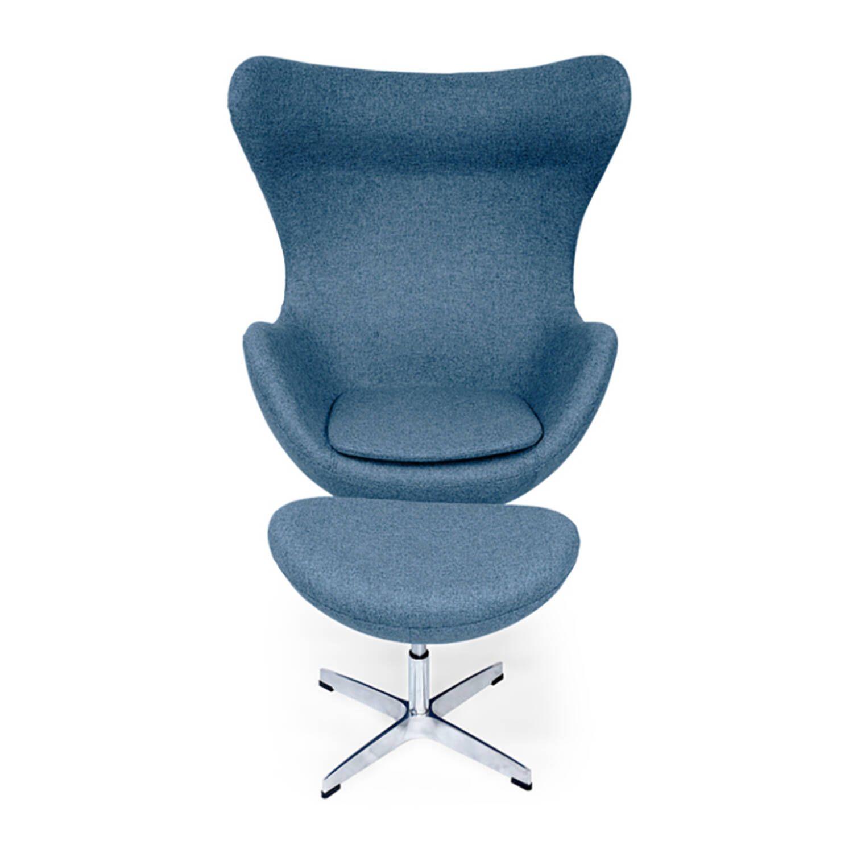 Синее кресло Egg купить