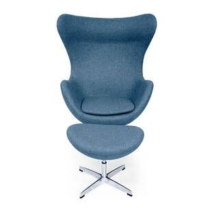 Синее кресло Egg