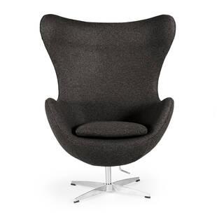 Темно-серое кресло Egg