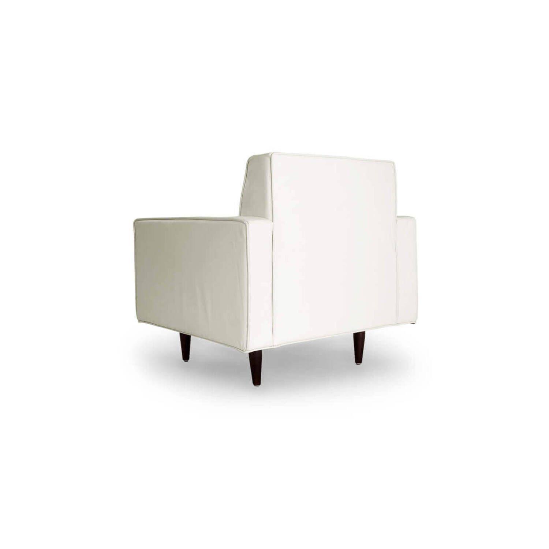 Белое кресло Eleanor, экокожа