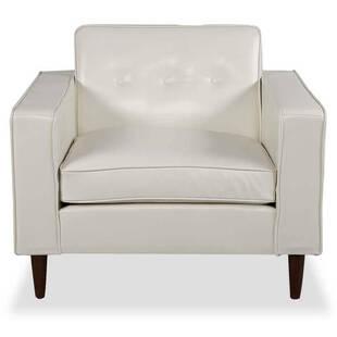 Кресло Eleanor, белое кожаное