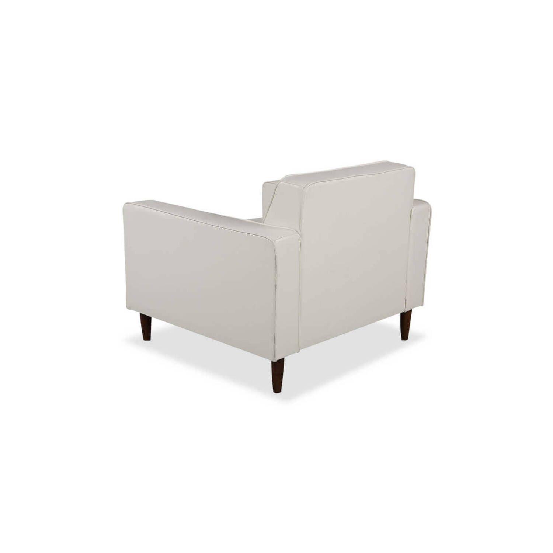 Кресло Eleanor, белое кожаное купить