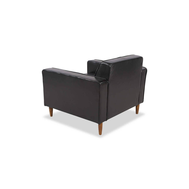 Кресло Eleanor, черное кожаное