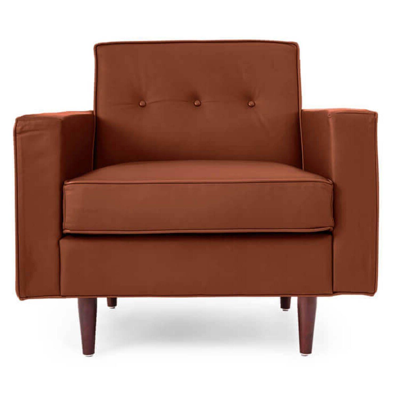 Кресло Eleanor, коричневое, экокожа